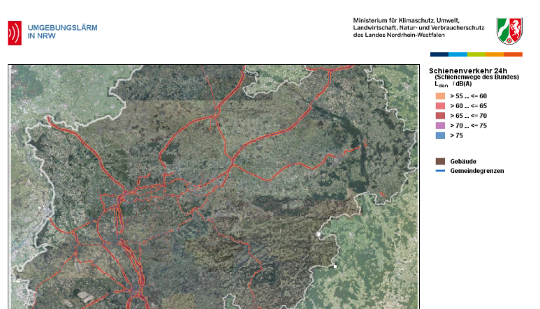 Third round of Environmental Noise Modelling in Northrhine-Westphalia